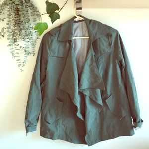 Open-front Army Jacket